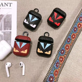 F Monster Luxury Genuine Leather Protective Cover AirPod Case - MegaaMobileMall