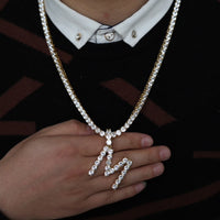 ICEY Initial Letter & Tennis Chain