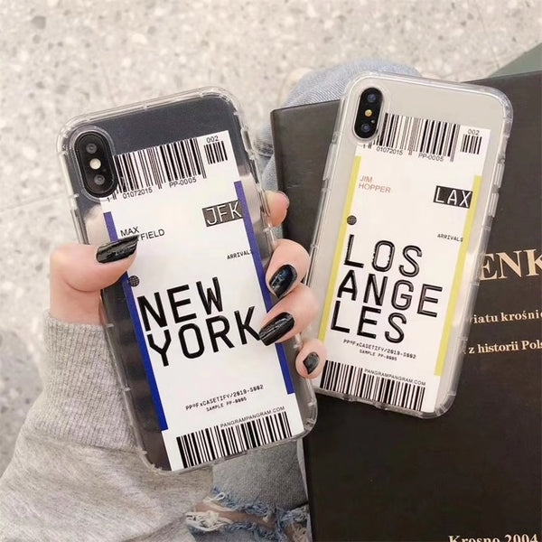 City Label Bar Code iPhone Case