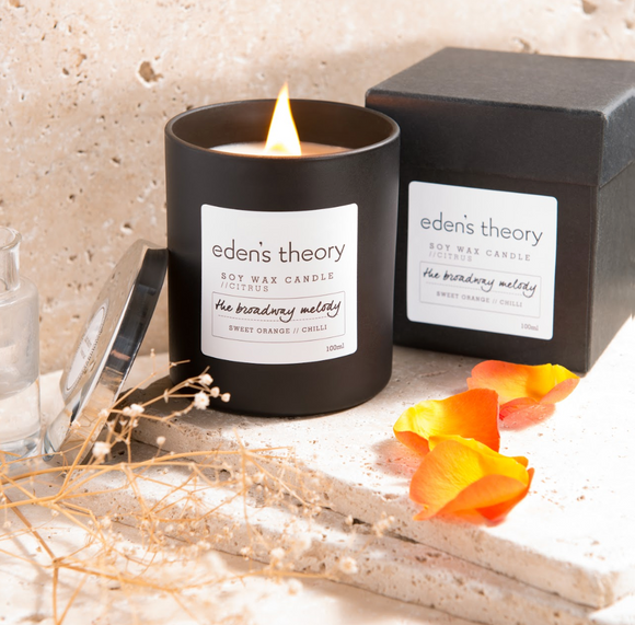 Eden's Theory 'The Broadway Melody' Soy Wax Candle