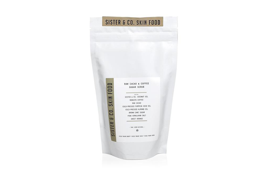 Sister & Co Sugar + Salt Scrub: Cacao + Coffee