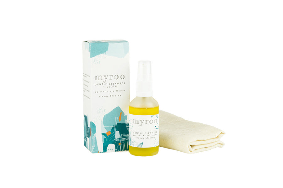 Myroo Gentle Cleanser + Cloth Orange Blossom