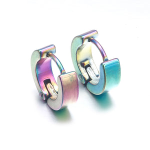 Anti-allergic titanium steel buckle tide Korean fashion stainless steel earring punk male and female buckle 4 Colors Girl gift - Inspired Zen, LLC