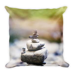 Reversible Balance Square Pillow - Inspired Zen, LLC