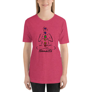Namaste Chakra Short-Sleeve Unisex T-Shirt - Inspired Zen, LLC