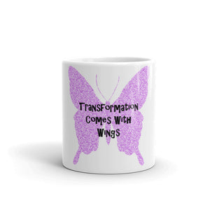 Transformation Comes With Wings Mug - Inspired Zen, LLC