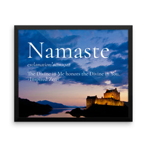 Namaste Framed poster - Inspired Zen, LLC