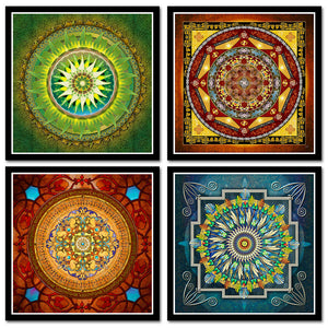 Tibetan Mandala Art Paintings-Inspired Zen