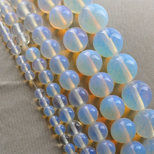 12mm Round Clear Opalite Beads - Inspired Zen, LLC