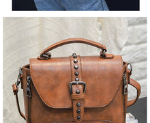 Vintage Leather Crossbody Bag, several color options - Inspired Zen, LLC