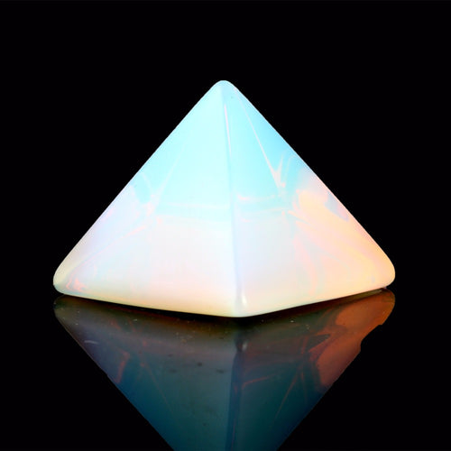 Natural Stone Carved Crystal Pyramid with Free pouch, variety of options available - Inspired Zen, LLC