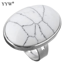 Natural Stone Oval Rings, Several Options Available - Inspired Zen, LLC