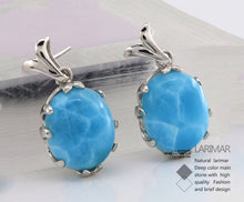 Natural Larimar Earrings