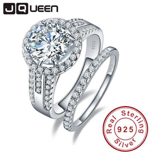 3.45ct Cubic Zirconia Wedding Ring Set, 925 Sterling Silver - Inspired Zen, LLC