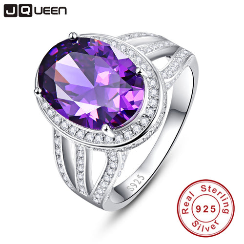 10.2ct Amethyst Ring, 925 Sterling Silver - Inspired Zen, LLC