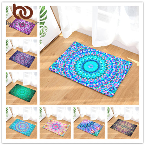 Mandala Boho Print Rug, several color/size options available - Inspired Zen, LLC