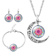 Mandala Zen Cabochon Jewelry Set, several color options - Inspired Zen, LLC