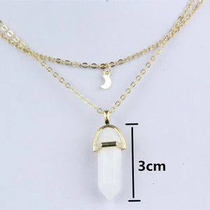 Double Layer Crystal Pendant, 2 options - Inspired Zen, LLC