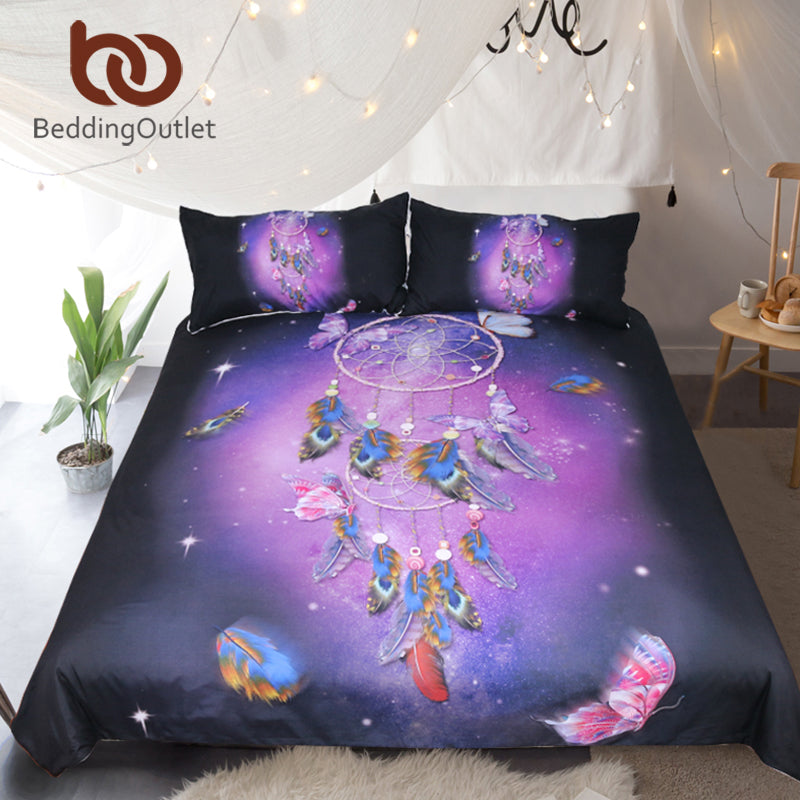 Butterfly Dreamcatcher Duvet Set, several sizes available - Inspired Zen, LLC