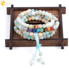 Natural Amazonite Chakra Stone 108 Prayer Mala Bracelet/Necklace - Inspired Zen, LLC
