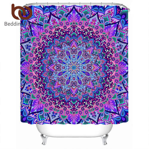 Mandala Print Shower Curtain, 2 colors/sizes available - Inspired Zen, LLC
