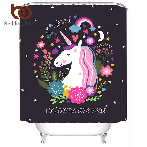 Unicorn Shower Curtain, several size options available - Inspired Zen, LLC