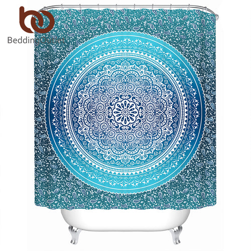 Mandala Decorative Shower Curtain, Several color and size options - Inspired Zen, LLC