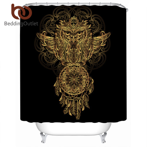 Golden Owl Dreamcatcher Shower Curtain, several sizes available - Inspired Zen, LLC