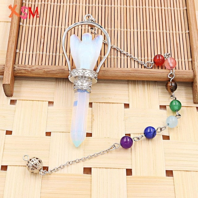 Natural Stone Angel Pendulum, several options available