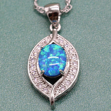 Blue Fire Opal Jewelry Set, 925 Sterling Silver