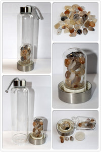 Moon Goddess Crystal Elixir Water Bottle-Indirect Method, Several Crystal Options Available