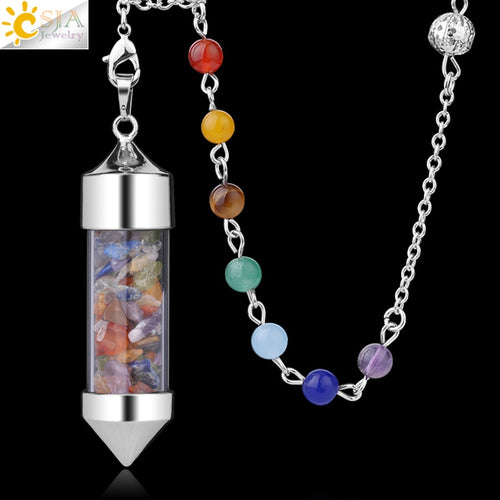 Crystal Pendulum, several natural stone options