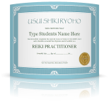 Reiki Certificate Templates for Reiki Master Teachers, digital - Inspired Zen, LLC