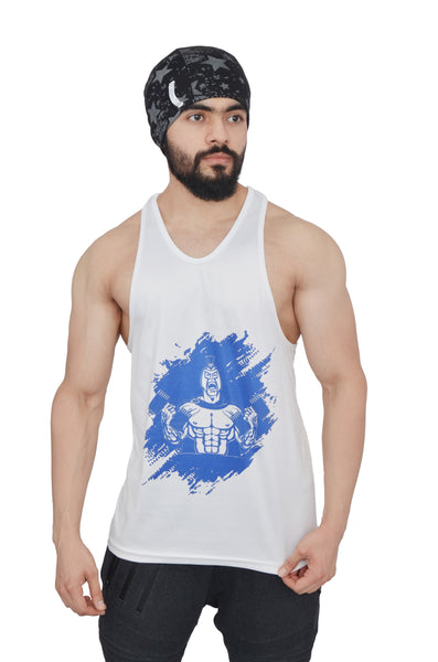 White & Royal Blue Dry-Tuff Performance Spartan With Dumbell Stringer