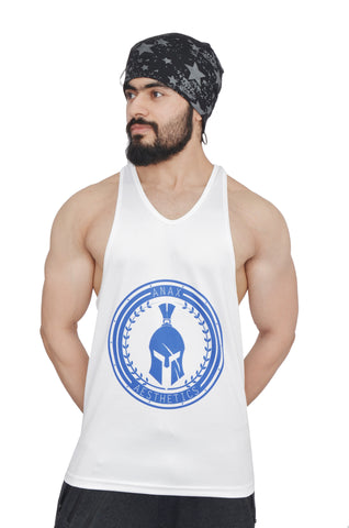 White & Royal Blue Dry-Tuff Performance Big Logo Stringer