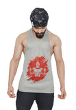 Silver & Red Dry-Tuff Performance Spartan With Dumbell Stringer
