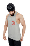 Silver & Red Dry-Tuff Performance Small Logo Stringer