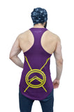 "Concord Purple & Yellow ""Bow Down To The King"" Longline Arc Stringer"