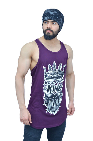 "Concord Purple & Black ""Bow Down To The King"" Longline Arc Stringer"