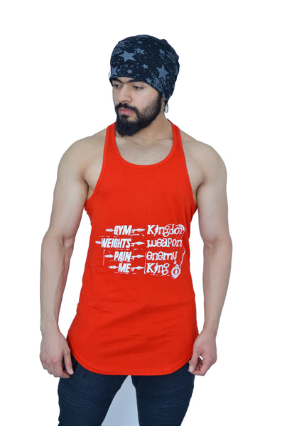 Rising Red & White Spartan Quote Longline Arc Stringer