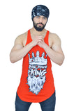 "Rising Red & White ""Bow Down To The King"" Longline Arc Stringer"