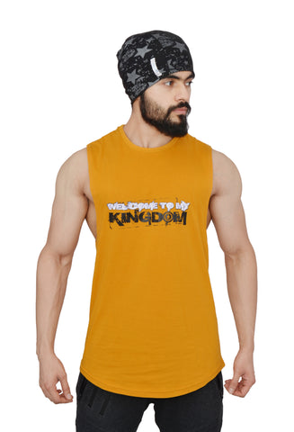 Mean Mustard Arckon Drop Armhole Welcome To My Kingdom Cutoff