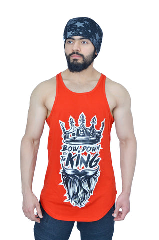 "Rising Red & Black ""Bow Down To The King"" Longline Arc Stringer"