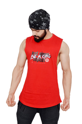 Ravishing Red Arckon Drop Armhole Be A King Cutoff