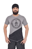 Grey & Black Dual V Drop T-Shirt