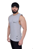 Platinum Grey Oversized Cutoff (Distressed)