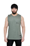 Military Green Cutoff (Distressed)