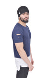Navy Blue Dual Drop T-Shirt (Distressed)