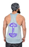 Silver & Purple Dry-Tuff Performance Spartan Typography Stringer