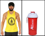 Stringer & Shaker Combo Pack of 2 (Yellow Big Logo & Spanish Red )